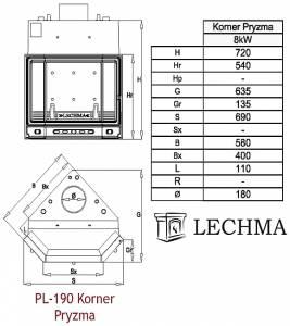 PL-190 Korner Pryzma Dzielona 8Kw UO ���������� ����� ���������